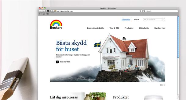 Bild från nya Beckers.se