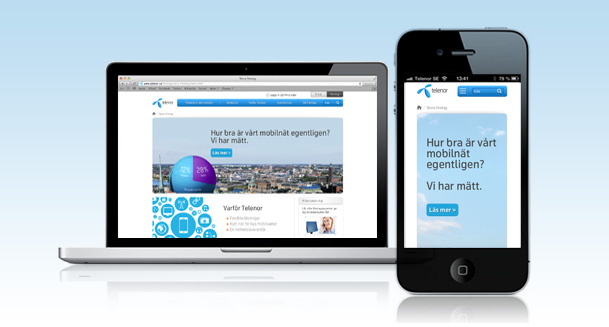 Telenor Business responsive web