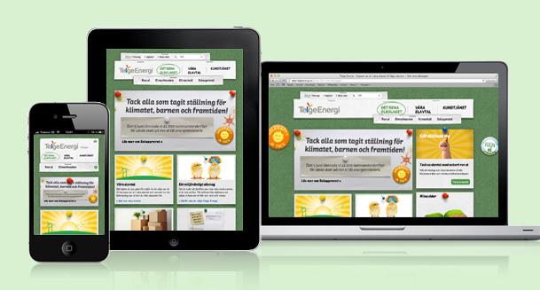 Telge Energi new responsive web